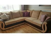 Corner sofa & cuddle chair