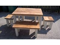 HAND MADE COFFEE/DINING TABLES,CHAIRS,DRESSERS,TV UNIT,BEDS,SIDEBOARD,GARDEN&PATIO BENCHES FROM £49