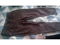 size 20 leather effect jeans