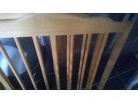 solid wood cot with mattress