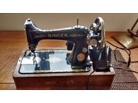 vintage heavy weight Singer Sewing Machine.