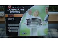 Landman Grillchef Stainless Steel Pedestal Charcoal Barbecue ** reduced to clear space was £40