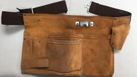 Leather tool pouch and belt.