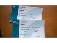 TWO Busted PLATINUM tickets (Seats) for Usher Hall, 25th Feb 2017