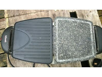 Grill with stone plate