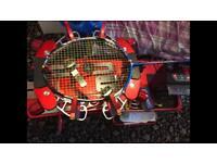 Badminton racket stringing