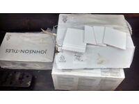 5 SQ METERS OF WHITE TILES,10 CM X 10 CM,100 PER BOX ,5 BOXES .