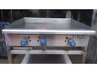 COMMERCIAL ELITE 3 BURNER NATURAL GAS GRIDDLE FLAT GRILL BURGER KEBAB CAFE DINER CANTEEN RESTAURANT