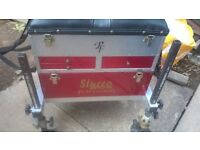 fishing tackle box with seat