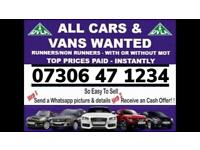🇬🇧♻️ WE BUY CARS VANS CASH TODAY SELL MY ANY CONDITION WANTED SCRAP FAST COLLECTION KINGSBURY