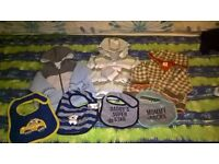 Boys coats and bibs 3-6 months