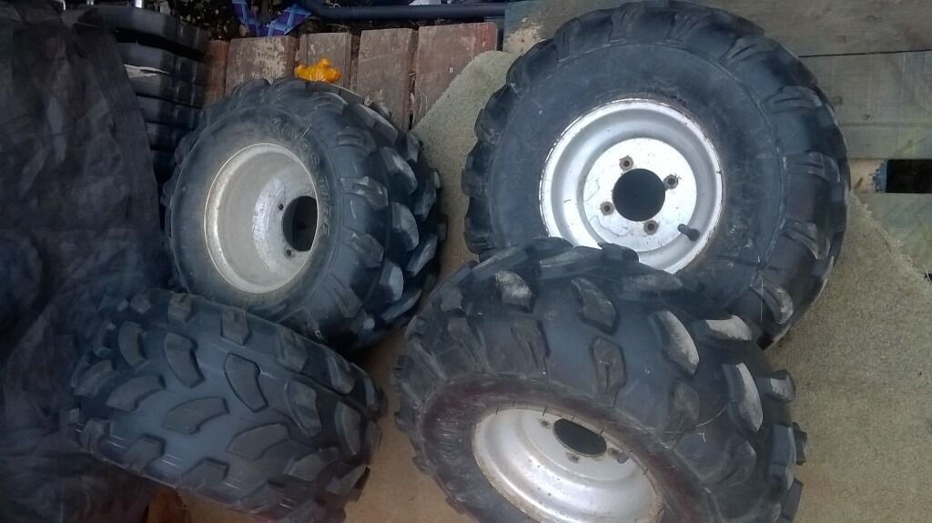 quad bike set of wheelsin Bognor Regis, West SussexGumtree - all terrain off road set of wheels from quad bike bashan 200 cc in nearly new condition,used few hours only