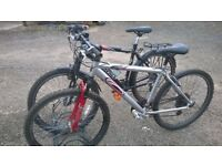 MOUNTAIN BIKE ADULT 1 carrera 1 GIANT BOTH HAVE 26 IN WHEELS 21 SPEED
