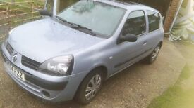 2004 Renault Clio Authentic 1.2 16v Long Mot Drives well