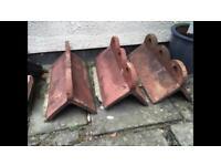 Victorian roof apex tiles