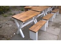 MADE BY HAND DRESSER UNIT,BEDS,SIDEBOARD,TV UNIT,DINING/COFFEE TABLES,GARDEN&PATIO BENCHES FROM £49