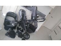 Uppababy Vista 2015 Pascal Silver with Black Frame Many Extras excellent condition