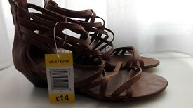 size 6 brown gladiator sandals womens