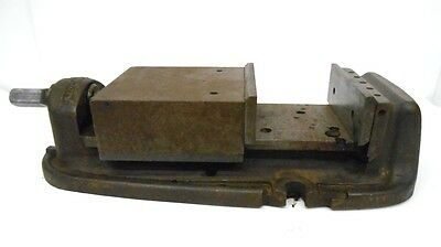 "BRIDGEPORT VISE, 5"" OPENING, 5"" WIDTH, 17"" OVERALL LENGTH OF BASE"