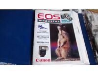 Vintage Canon EOS Magazine 17 issues in folder