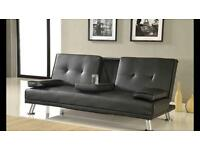 Leather bed settee double