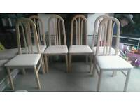 REDUCED FOR A QUICK SALE - SET OF 6 BEAUTIFUL SHABBY CHIC DINING CHAIRS