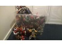 large box of power ranger toys