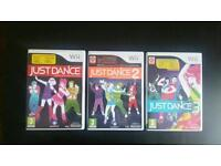 Wii games x3 just dance