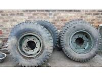5 x TRUCK WHEELS AND TYRES