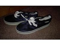 Blue laced up shoes/ trainers. Size 4