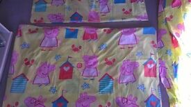 Peppa Pig bedding and curtains