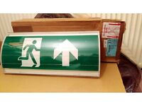 Exit sign lightbox