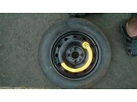 Spare wheel brand new tyre - space saver model