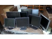Eight monitors, from 15 inch to 19 inch, excellent central London bargain