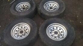 4 x vw beetle chrome wheels for sale with 4x4 tyres on