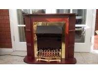 Traditional Style Electric Fire and Surround
