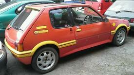Project classic 205 1.9 GTI rally car or restoration