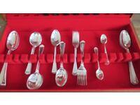 36 piece Vintage Silver Plated Cutlery Set, 8 soup, desert, tea spoons, forks. +4 serving spoons
