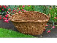 Large Vintage Log / Laundry Basket - Wood Burning Stove