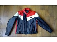 Vintage Leather Motorbike Motorcycle Jacket, Medium