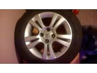 3x vauxhall alloys, good condition. comes with good condition tyres size 185\65\R15