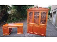 Vintage beaureau and display unit