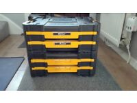 DeWalt t-stak tool/screw storage boxes