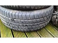 4x vw steel wheels 3x good tyres 205.55.16