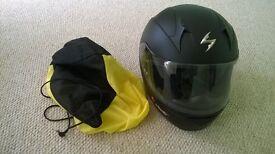 Scorpion motorbike helmet (as new)