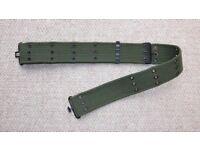"2"" Army Olive Green Pistol Belt 24-42"" Inch Waste in VGC (cadet cadets ATC combat woodland webbing)"