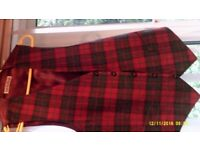 "Check Waist Coats By Van Kollem of Germany. Size 44"""