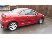 peugeot 207 cc sport top spec leather/57000miles/fsh/serviced just t/chain done