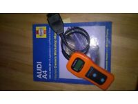 Audi A4 haynes manual and ODB engine code reader
