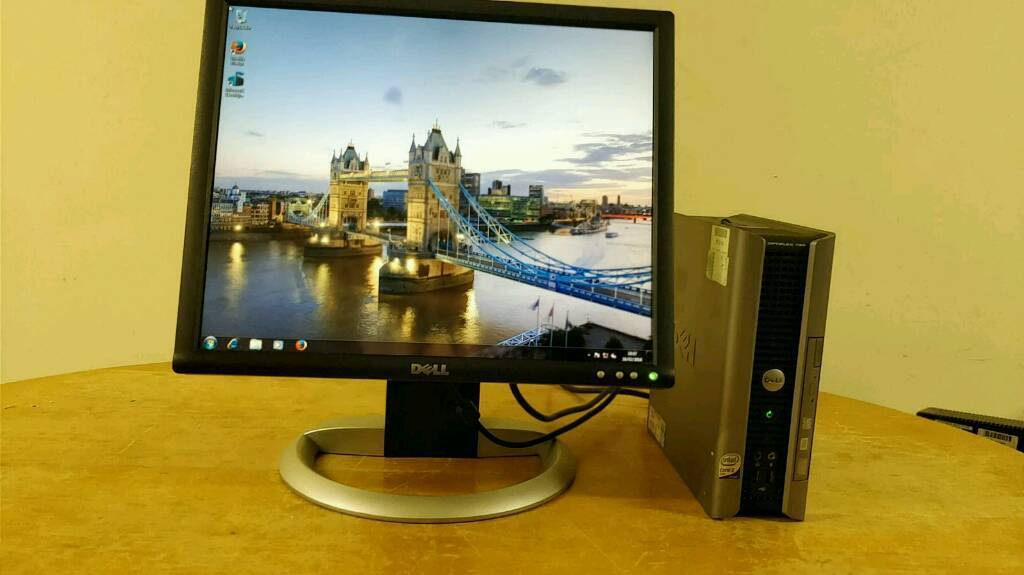 Surprising Cheap Dell Ultra Small Desktop Computer Pc Dell Lcd 19 Monitor Bargain In Washwood Heath West Midlands Gumtree Download Free Architecture Designs Scobabritishbridgeorg
